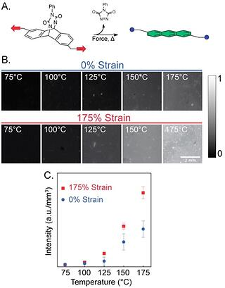 Strain Reactive Polymer Temperature Dependency